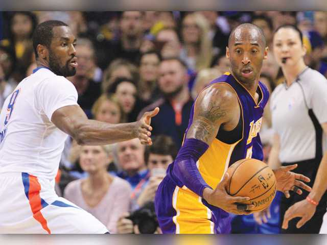 OKC sends off Bryant, Lakers
