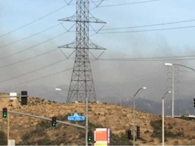 A Blaze That Broke Out In Valencia This Morning Was Near High Power Lines  In ...