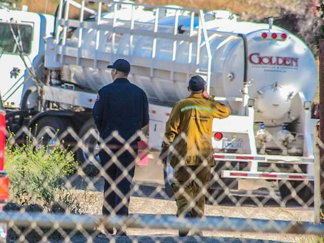 """Overflowing"" oil tank prompts Haz Mat response in Castaic"