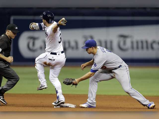Dodgers fall short of comeback against Tampa Bay on road