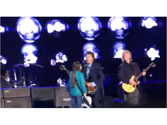 Have You Seen This? 10-year-old girl rocks with a Beatle