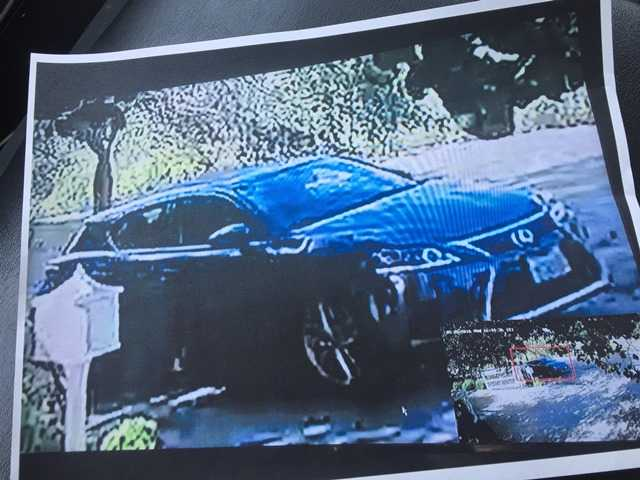 The California Highway Patrol has released a photo of the suspected hit-and-run vehicle in the death of a school teacher on Placerita Canyon Road on Wednesday.