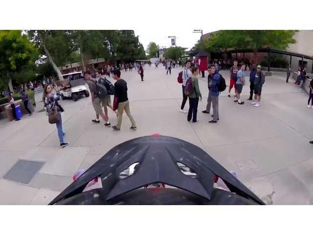Teenager arrested for dirt bike prank at Hart
