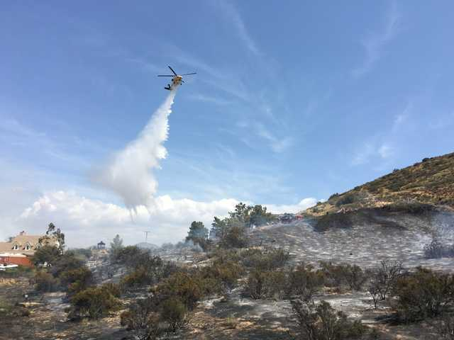 UPDATE: Fire in Agua Dulce contained