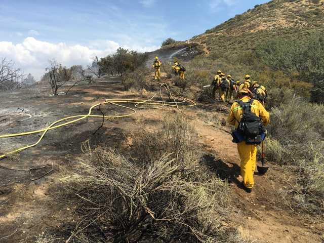 UPDATE: Fire in Agua Dulce contained