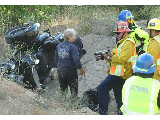 Two treated in motortrike rollover on San Francisquito Canyon Road