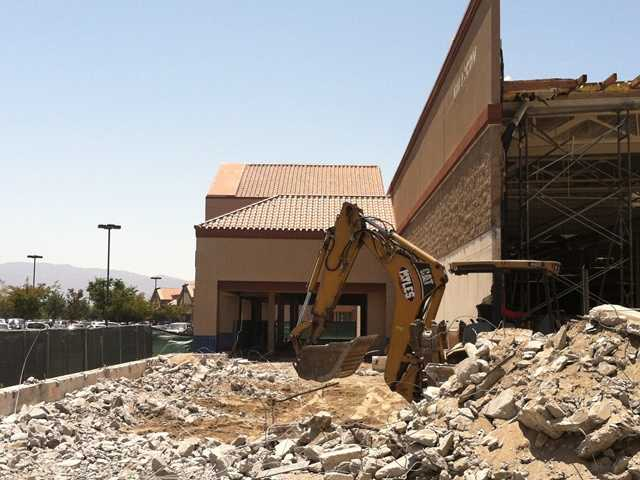 Construction begins at Hobby Lobby store