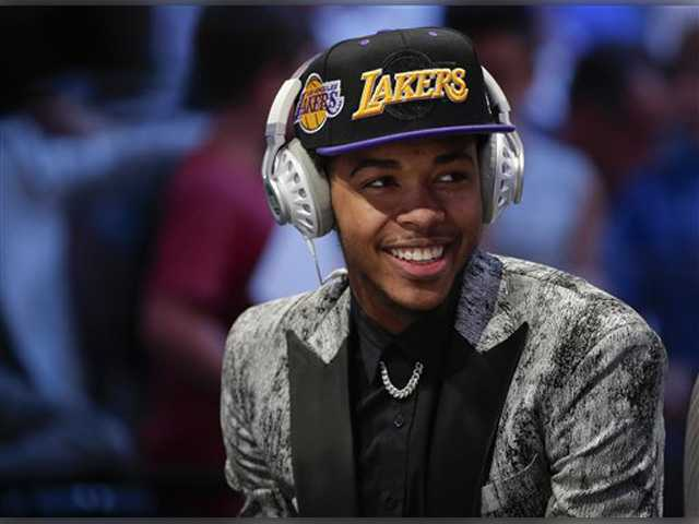 LA Lakers choose Duke's Brandon Ingram with No. 2 pick