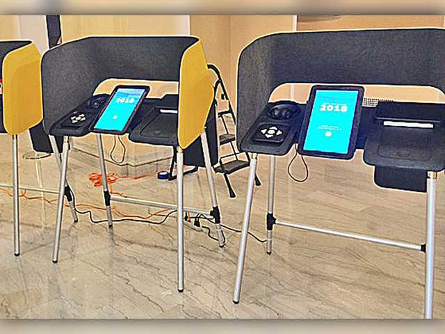 A new voting system prototype for Los Angeles County. Photo courtesy of the Los Angeles County Registrar-Recorder/County Clerk.