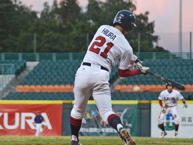 Keston Hiura, a Valencia High graduate and UC Irvine designated hitter, was named to the USA Collegiate National Team.Photo courtesy of USA Baseball