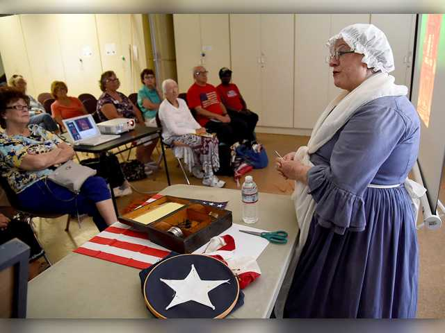 Re-enactor offers glimpse into life
