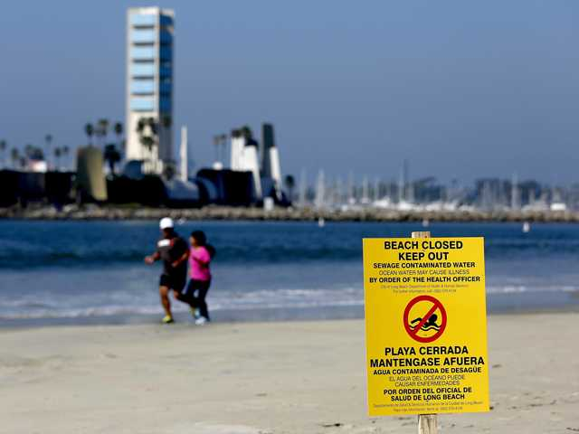 Los Angeles sewage spill brings closure of some beaches
