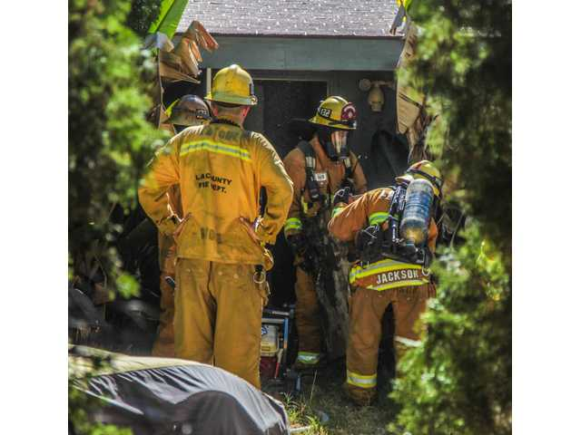 Canyon Country resident treated for smoke inhalation at house fire
