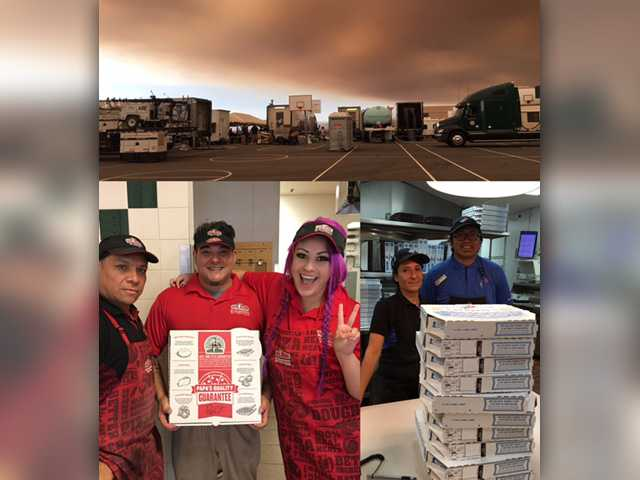 Pizza restaurants step up for firefighters