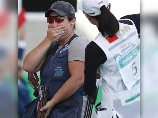 Shooting - American Rhode wins record sixth medal in six Games