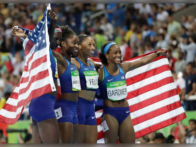 SCV's Allyson Felix earns record 5th gold medal after 4x100 relay