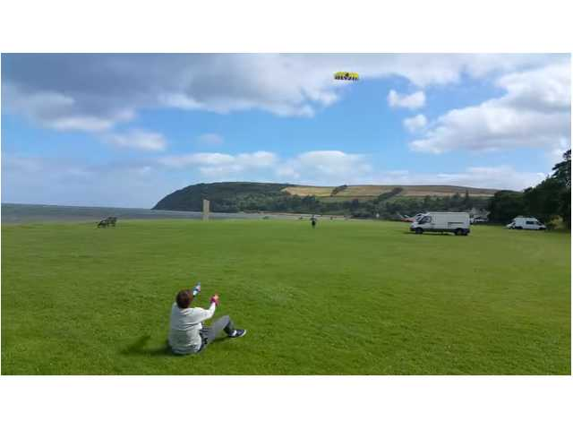 Have You Seen This? Strong wind lifts kite flyer off the ground