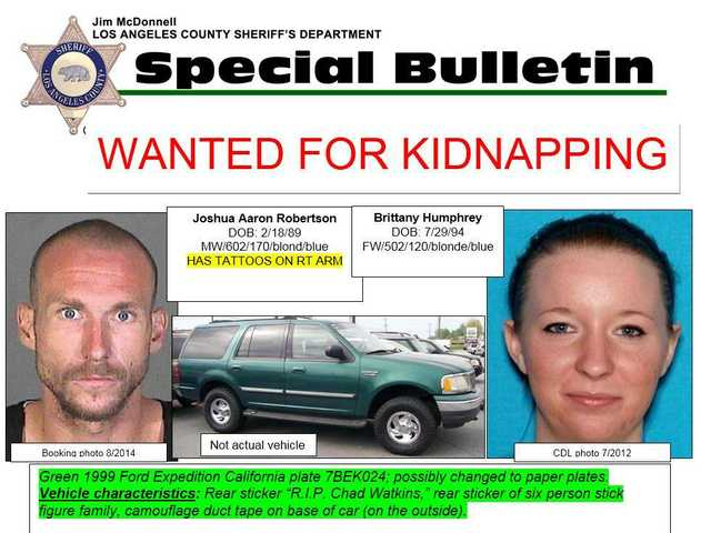 Detectives seeking public's help in finding kidnap, homicide suspects