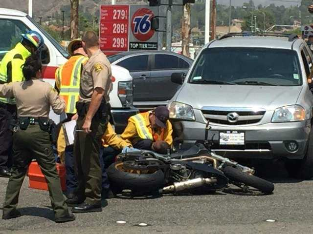 Motorcyclist hurt in crash on Bouquet Canyon Road