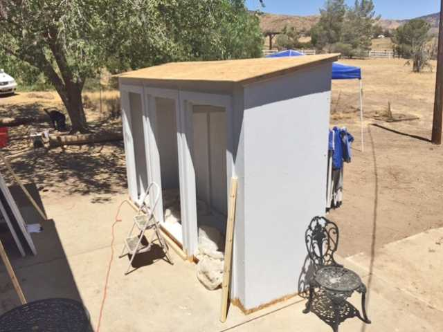 Klipfel's nearly finished food storage unit, built to help the SCV Food Pantry. Courtesy photo