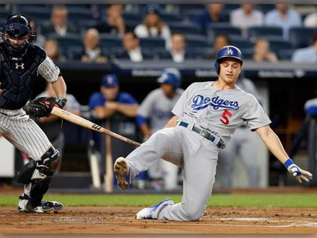 Dodgers shut down by another lefty, lose 3-0 to Yankees