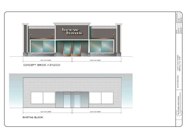 A new restaurant and brew house at 24407 Main St. in Downtown Newhall is in the works. The establishment, which is as yet unnamed, will feature both indoor and outdoor seating. Courtesy graphic.