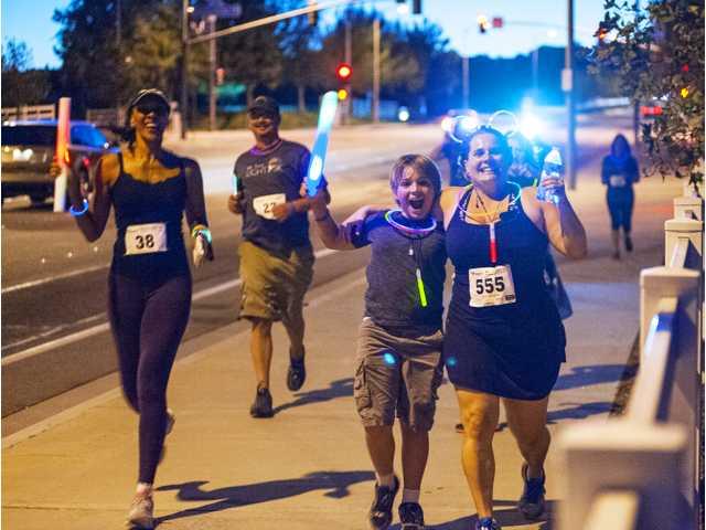 Night run lights up West Creek Park