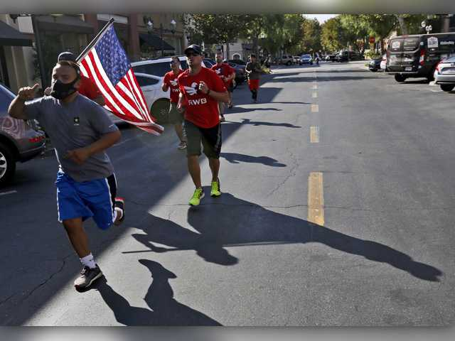 Old Glory travels through Santa Clarita on its cross-country journey
