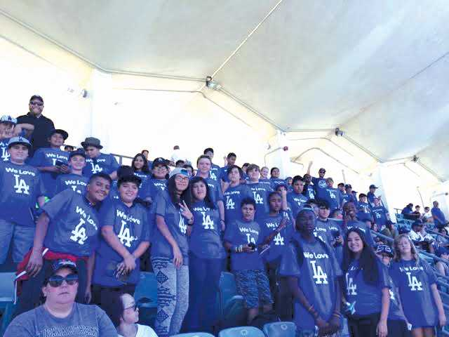 Sierra Vista Junior High School Students Attend Dodger Game