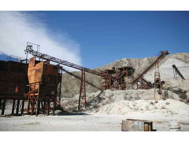This file photo from March shows the current Cemex mining operation on Soledad Canyon Road.