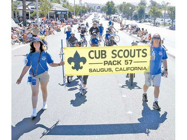 Saugus' Pack 57 represented the Cub Scouts in Santa Clarita's 2005 Fourth of July parade through Newhall.