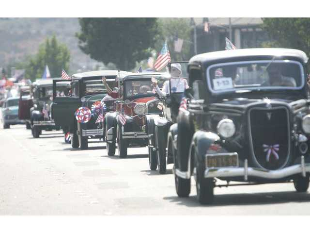 The Santa Clarita Antique Automobile Club never misses a Fourth of July parade in Newhall.