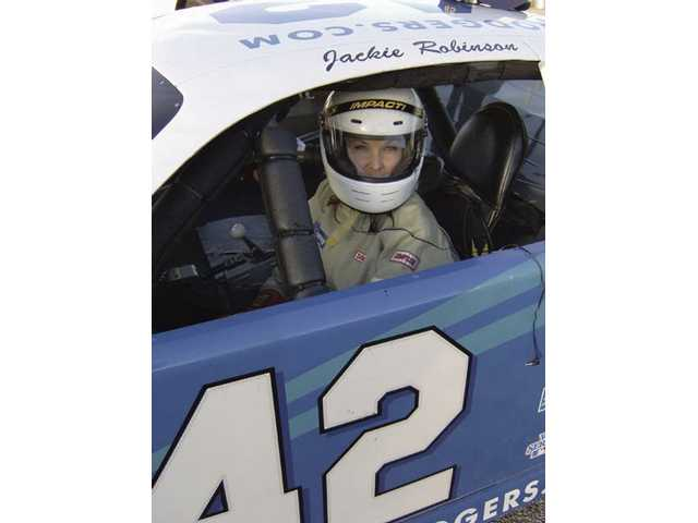 "Terri Cadiente gets behind the wheel at ""Speed School X - The Ultimate Driving Adventure"" in Irwindale for a 20-lap adventure. Of all the stunts Cadiente performs, she said she enjoys driving the best."