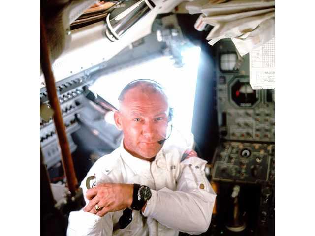 "Lunar module pilot Edwin ""Buzz"" Aldrin."