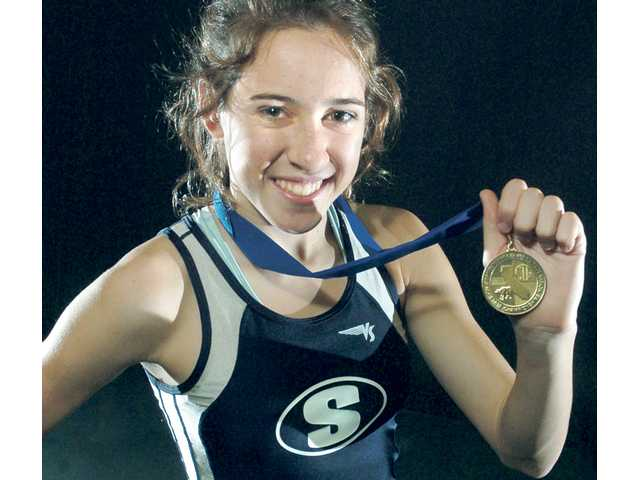 Saugus junior Kaylin Mahoney geared her training toward the postseason, and it paid off for both her and the Centurions, who won a fourth straight state title.