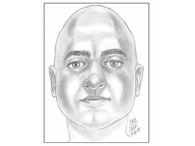 Above is a sketch released by the Santa Clarita Valley Sheriff's Station depicting the suspect in an alleged kidnapping attempt of a 15-year-old girl in Newhall Oct. 12. Residents with information about the suspect can call the sheriff's station directly at (661) 255-1121 or anonymously at (661) 284-2847.