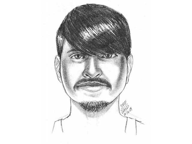 Above is a sketch released by the Santa Clarita Valley Sheriff's Station depicting the suspect in an alleged kidnapping attempt of an 11-year-old boy in Tesoro Del Valle Oct. 12. Residents with information about the suspect can call the sheriff's station directly at (661) 255-1121 or anonymously at (661) 284-2847.