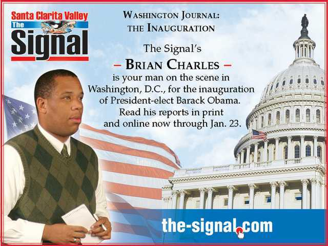 B.C. goes to D.C.: Signal Staff Writer Brian Charles' Washington Journal stories appeared in The Signal newspaper and on The-Signal.com Jan. 9-23, 2009. Join him on his journey to our nation's capital for the historic inauguration of President Barack Obama.