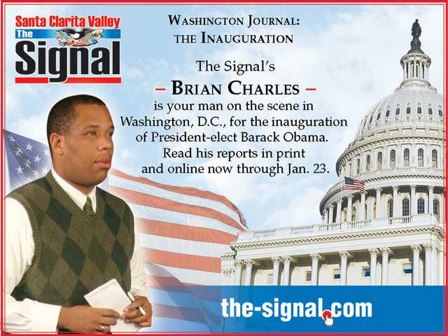 B.C. goes to D.C.: Signal Staff Writer Brian Charles' Washington Journal starts today in The Signal and on The-Signal.com. Join him on his journey to our nation's capital for the historic inauguration of President-elect Barack Obama.