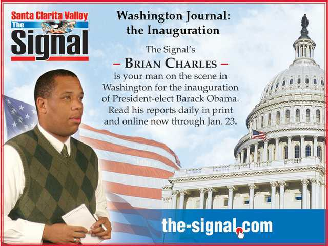 B.C. goes to D.C.: Signal Staff Writer Brian Charles' Washington Journal continues in The Signal and on The-Signal.com. Join him on his journey to our nation's capital for the historic inauguration of President-elect Barack Obama.
