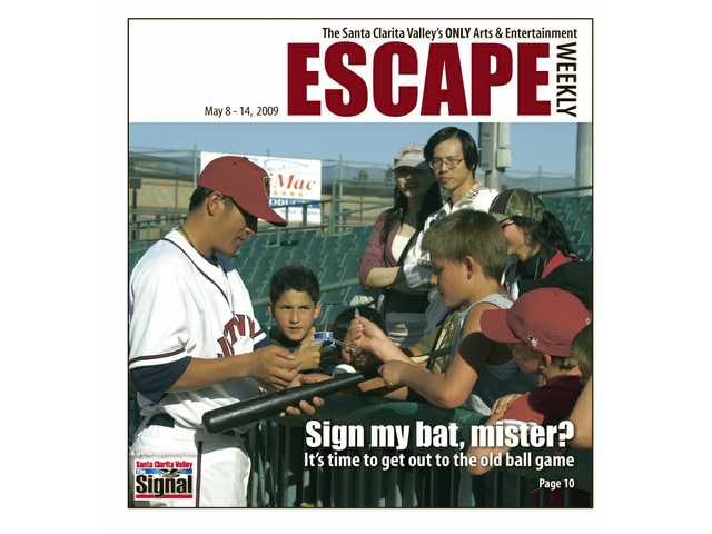 It's time to get back to the baseball stadium, whether it's with the Lancaster JetHawks (a JetHawk signs autographs here) or the Los Angeles Dodgers.