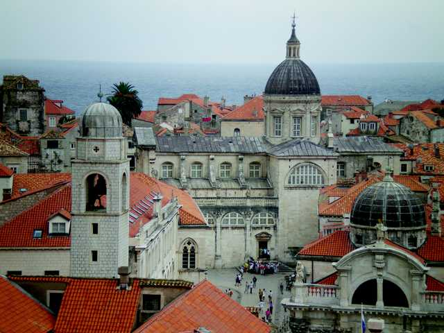 Carl Boyer, of Valencia, observed beautiful Old World architecture and cloistered rooftops during his recent 44-day trip to the Balkans. This is a view of the city of Dubrovnik from the wall surrounding the town.