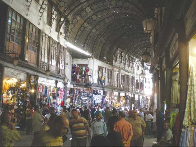 The market in Damascus is a busy, bustling place famous for its small shops.