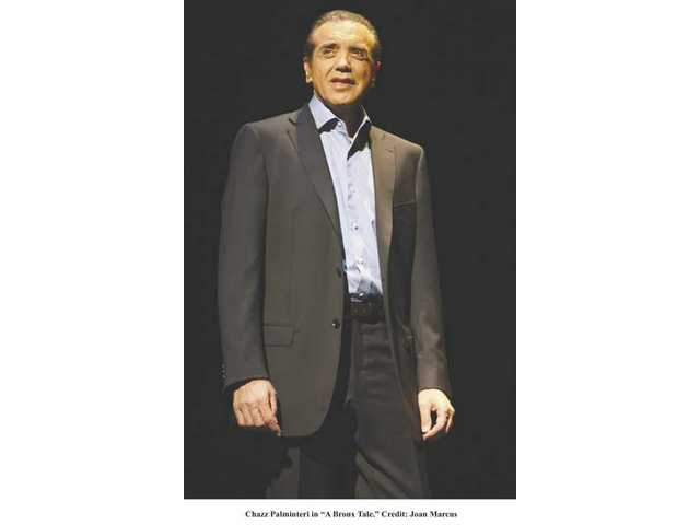 "Chazz Palminteri will reprise his tour de force performance in ""A Bronx Tale"" Sept. 9-21 at the Wadsworth Theatre in Brentwood."