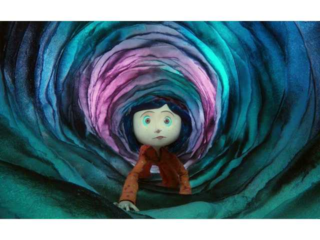 "Dakota Fanning voices ""Coraline,"" an unpleasant little girl who complains, has an attitude and is not very nice in this stop-motion 3-D film which is rated PG."
