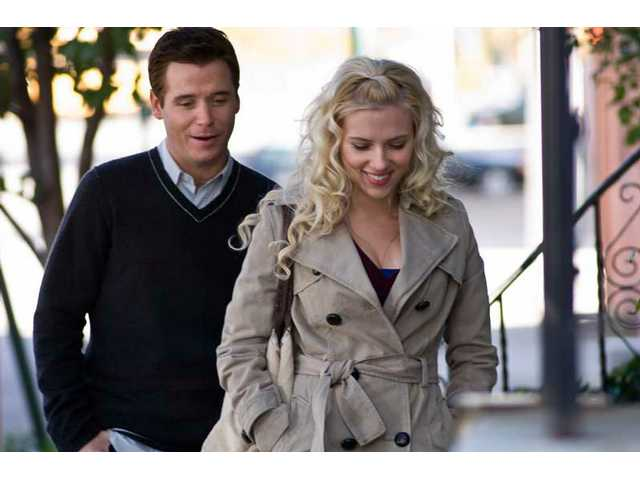 "Kevin Connolly, left, and Scarlett Johansson are shown in a scene from ""He's Just Not That Into You."""