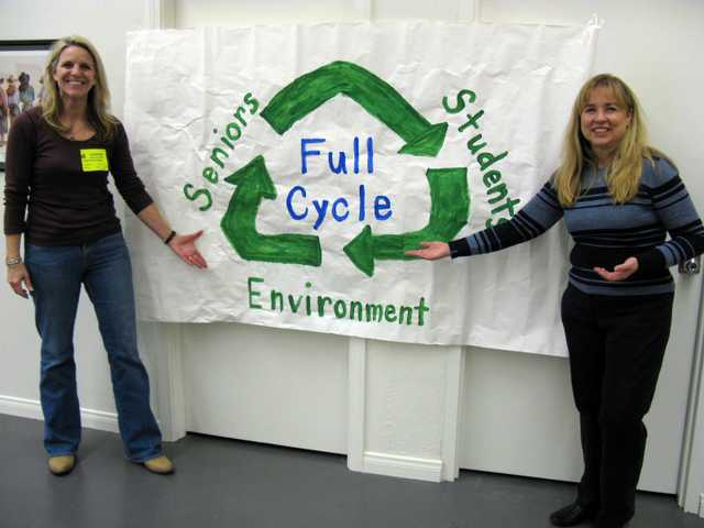 "Seniors and students join forces to save the environment through a ""Full Cycle"" recycling effort at Canyon High School and the SCV Senior Center. Tracy Hauser, the visionary behind ""Full Cycle,"" hopes to empower students and seniors to raise and share the funds they need and to protect the environment in the process."