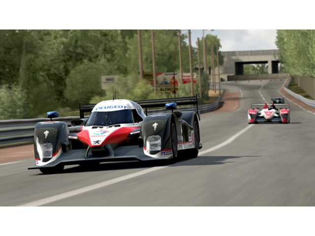 "A scene from a Le Mans car race is shown in ""Forza Motorsport 3."" The game maintains all the options that serious gearheads love while being accessible to people who just want to go for a spin."