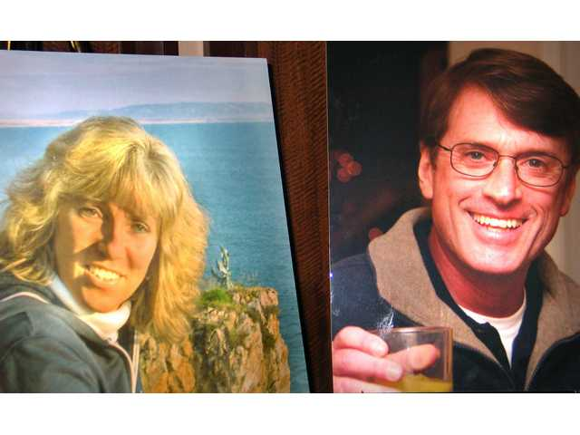 Photos of Susanna and Mike Gunning graced the lobby of the Hyatt Valencia for the Texas Hold'em Tournament on Saturday to benefit their two boys, Sean, 23 and Evan, 16. The Gunnings loved the ocean and often stayed in Cambria on the Central Coast.