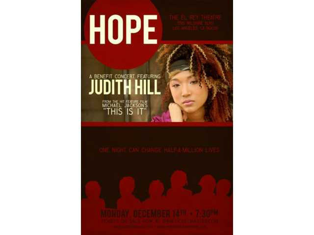 Academy of the Canyons graduate Judith Hill will host a benefit concert at the El Rey Theatre in Los Angeles Monday, Dec. 14. Showtime is 7:30 p.m.